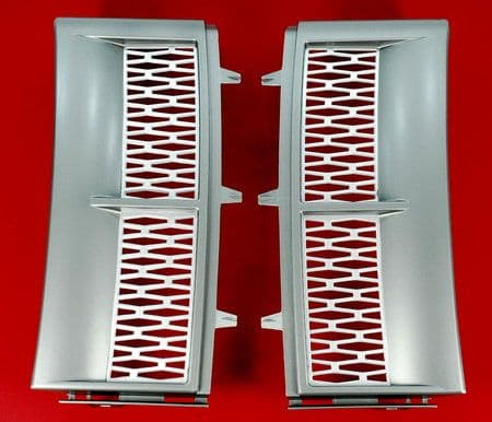Supercharged Style Side Vents - SILVER/GREY MATT - PAIR ( Non Genuine )