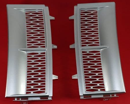 Supercharged Style Side Vents - SILVER - PAIR ( Non Genuine )