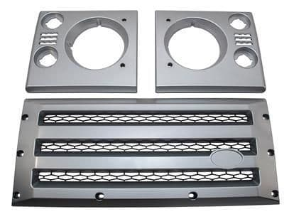 XS Front Grille & Headlamp Surround - Silver with Black Mesh - DA1969