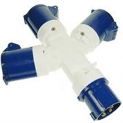 16 Amp 3 Way Splitter Plug Adaptor