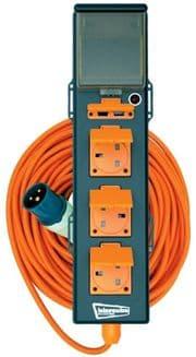 5 Way Mobile Mains Unit Site Power Lead