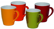 Melamine 4 pc Rainbow Mugs / Cups