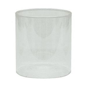 Straight Gas Glass Globe Size Medium