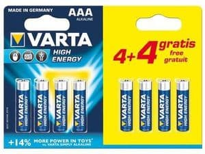 AAA Batteries Pack of 8