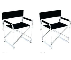 Black Directors Chair (Twin Pack)