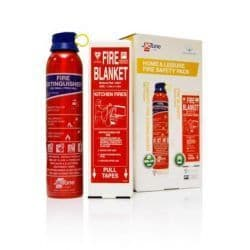 Fire Blanket & Fire Extinguisher Package