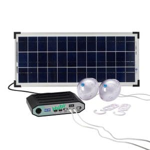 HUBi 10k Solar Charging Kit w/ Lights