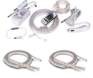 Kampa SabreLink Flex 45LED Mains & 12 Volt Lights + 2 x Add On Sabre Flex Lights