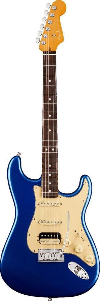 Fender American Ultra Stratocaster HSS, Cobra Blue, Rosewood