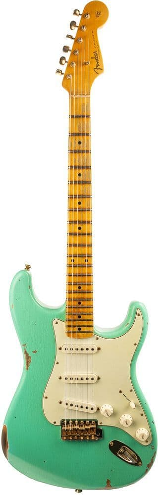 Fender Custom Shop Ltd 62 Strat Bone Tone, Aged Sea Foam Green