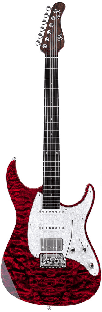 Mayones Aquila 6 Dirty Red Burst Flame