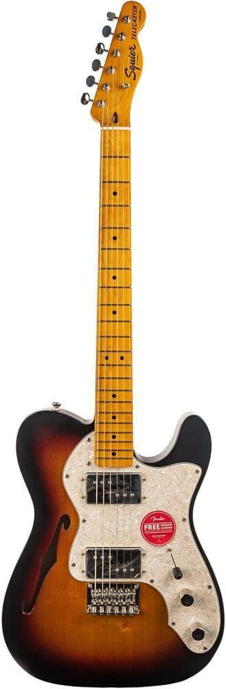 Squier Classic Vibe 70s Tele Thinline 3 Tone Sunburst