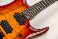 Sterling by Music Man, JP150 Dimarzio Blood Orange Burst